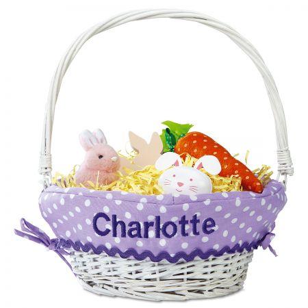 Personalized Lavender Easter Basket