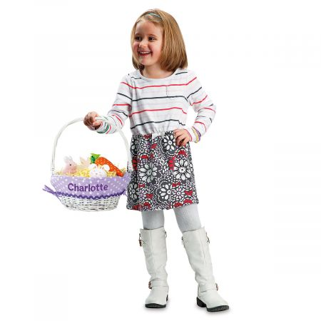 Easter Basket with Liners-Lavender-2L437A