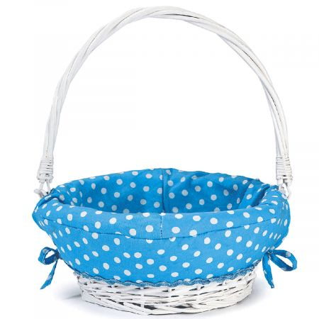 Personalized Wicker Easter Basket with Blue Liner