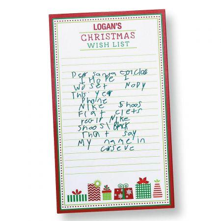 Christmas Wish List Memo Pad