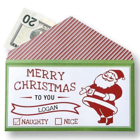 Santa Money Envelopes