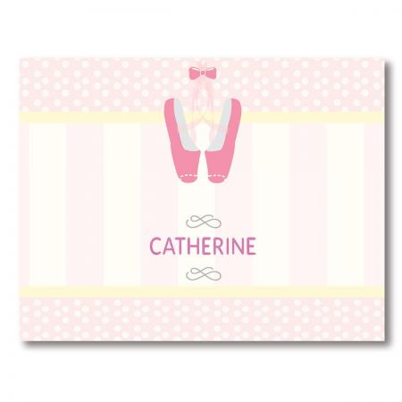 Ballerina Personalized Note Cards by Designer Maureen Anders