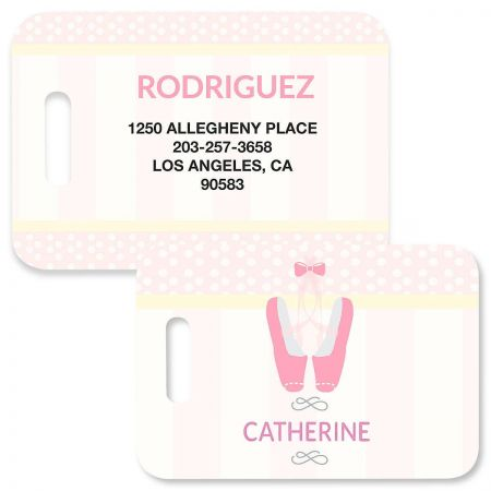Ballerina Luggage Tag by Designer Maureen Anders