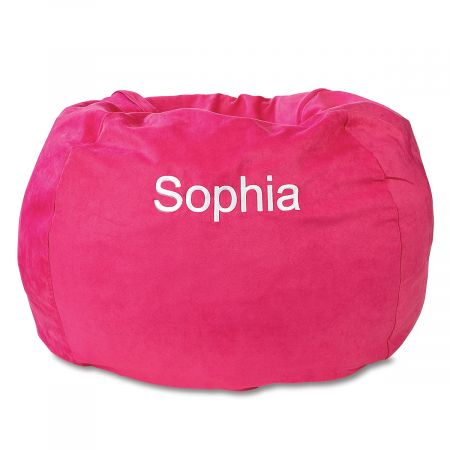 Fuchsia Personalized Bean Bag Chair
