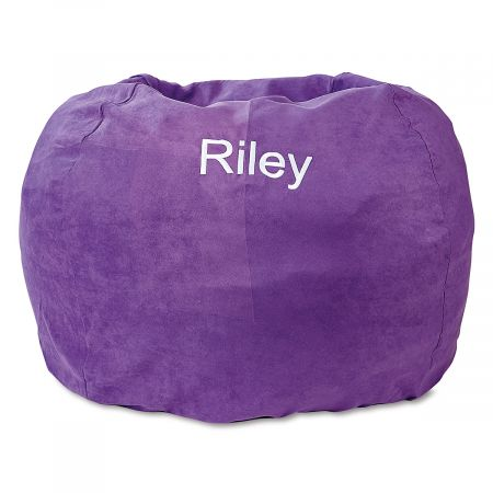 Purple Personalized Bean Bag Chair