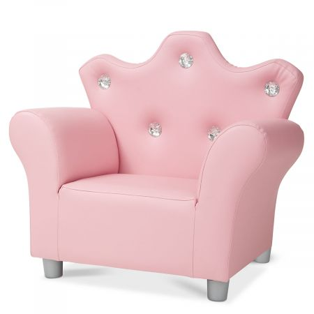 Pink Faux Leather Arm Chair by Melissa & Doug®