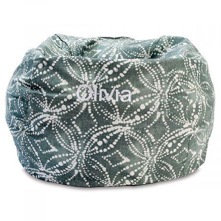 Personalized Waterbury Green Bean Bag Chair