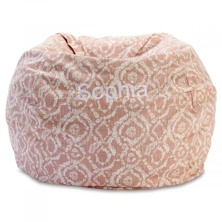 Personalized Blush Bean Bag Chair
