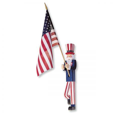 Uncle Sam Flag Holder with Flag