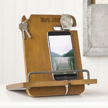 Wooden Docking Station Personalized