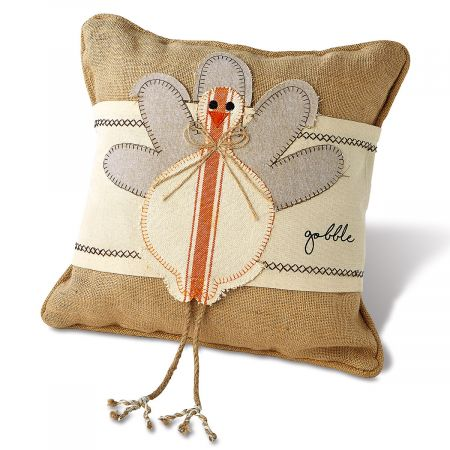 Turkey Wrap & Burlap Personalized Pillow