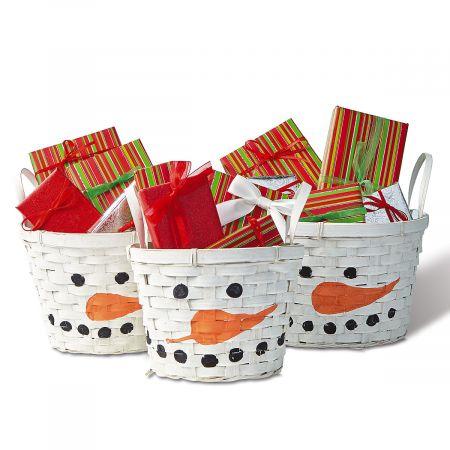 Snowman Nested Baskets