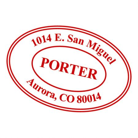 Personalized Oval Self-Inking Address Stamp