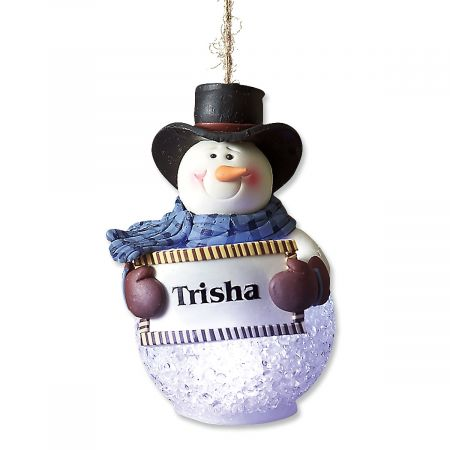 Light-Up Snowman Custom Ornament