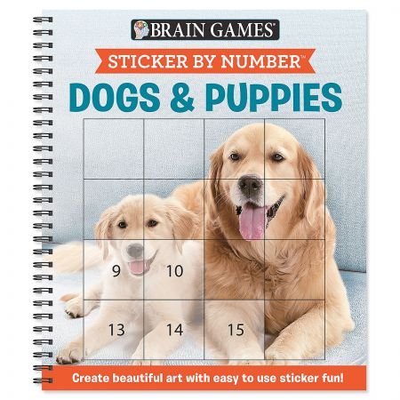 Brain Games Sticker by Number Dogs & Puppies