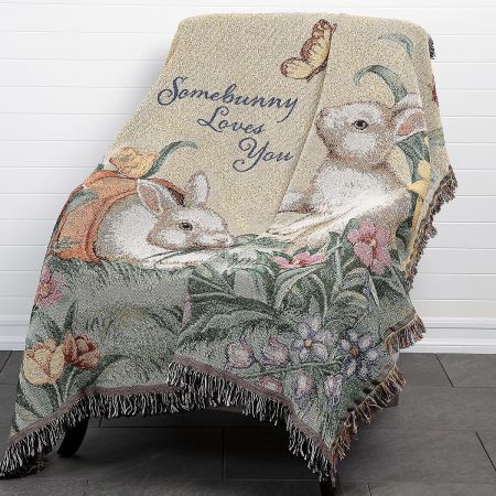 Somebunny Loves You Pillow and Throw