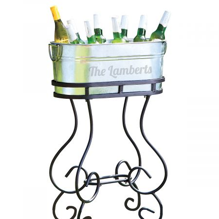 Personalized Beverage Tub & Stand