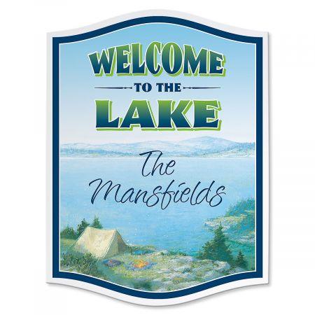 Lake Wooden Sign