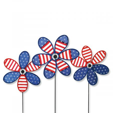 Patriotic Flower Spinners