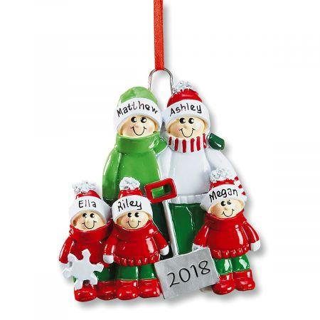 Holiday Snow Shovel Ornament-3 Children-607562C