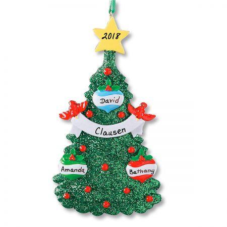 Glitter Tree Ornament-3 Names-607563A