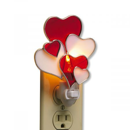 Stained Glass Heart Night Light