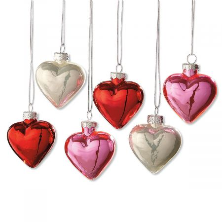 Shiny Hearts Ornaments