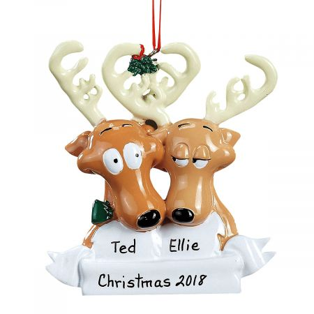 Reindeer Family Christmas Personalized Ornaments
