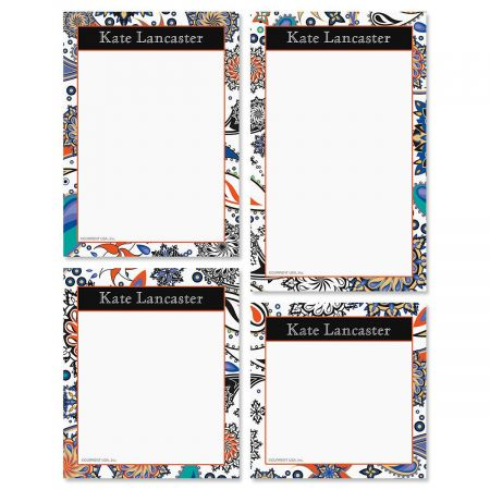 Color Paisley Notepads