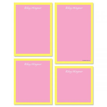 Bordered Hues Notepads-Pink-609260A
