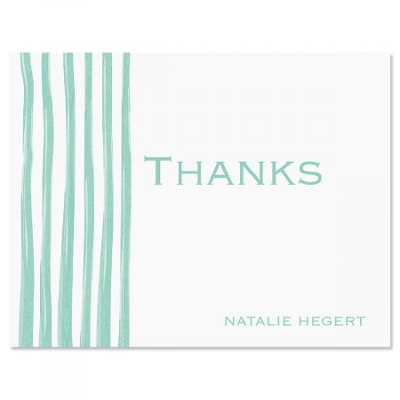 Sheer Delight Thank You Card-Green-609279C
