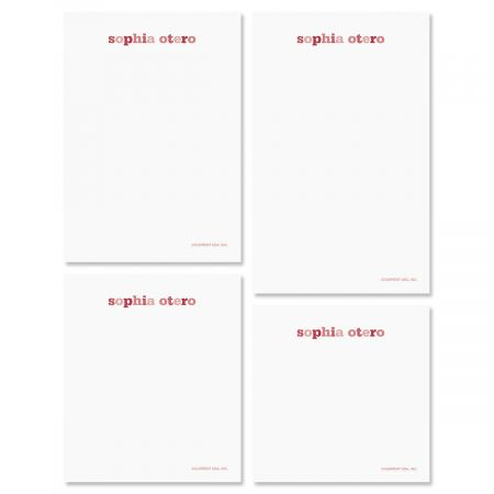 Color Wash Notepads-Raspberry-609300C