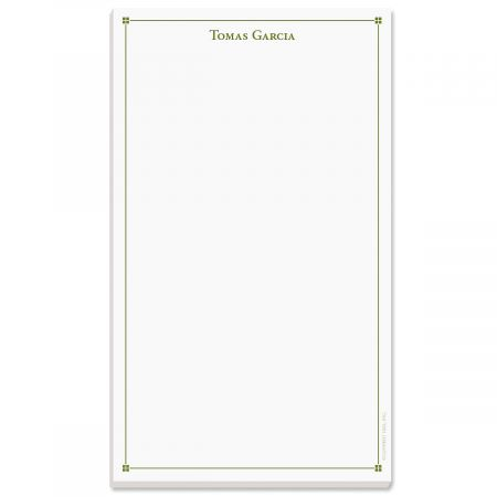 Atticus Notepad-Green-609314B