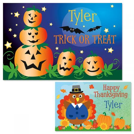 Jack-o'-Lanterns Personalized Placemat
