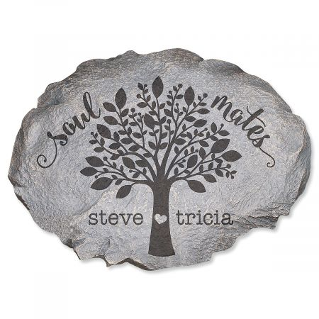 Soulmates Personalized Garden Stone