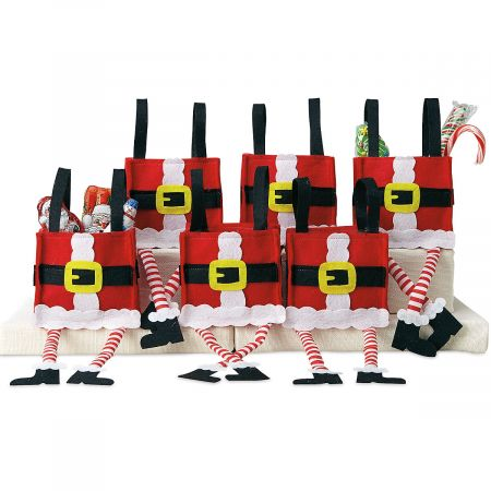 Dangling Santa Legs Party Treat Bags
