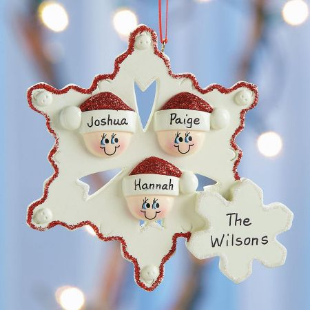 Snowflake Family Christmas Personalized Ornaments