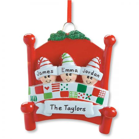 Bed Heads Personalized Christmas Ornament