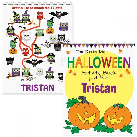 Personalized Halloween Activity Book-Pumpkin-613089B