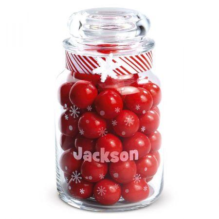 Personalized Snowflake Treat Jar