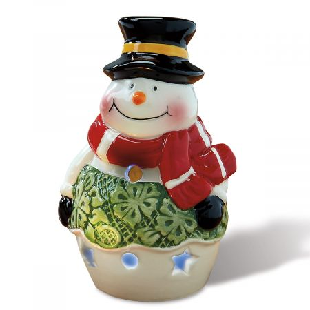 Ceramic Snowman Tealight Holder