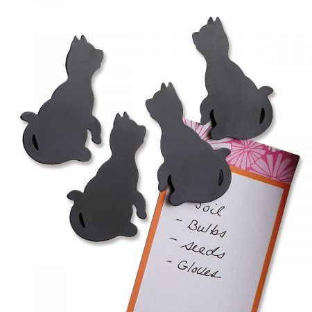 Black Cat Silhouette Magnets