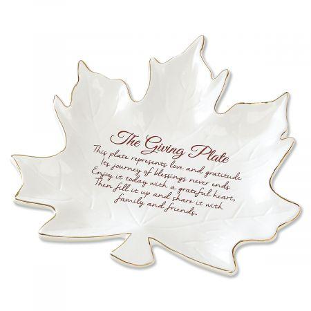 Ceramic Leaf Giving Plate