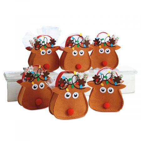 Reindeer Felt Party Treat Bags