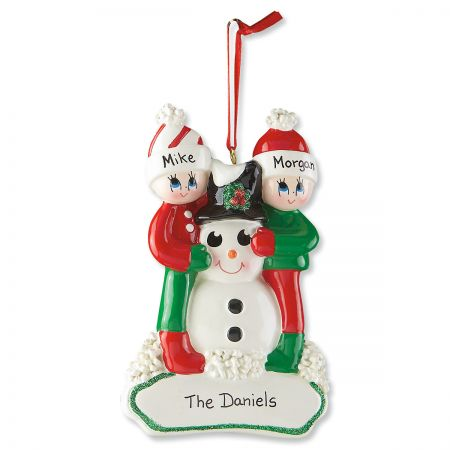 Snowman Gang Personalized Christmas Ornament