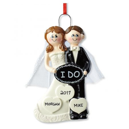 I Do Wedding Personalized Ornaments