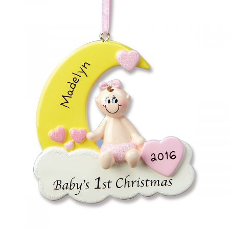 Baby Girl's First Ornament