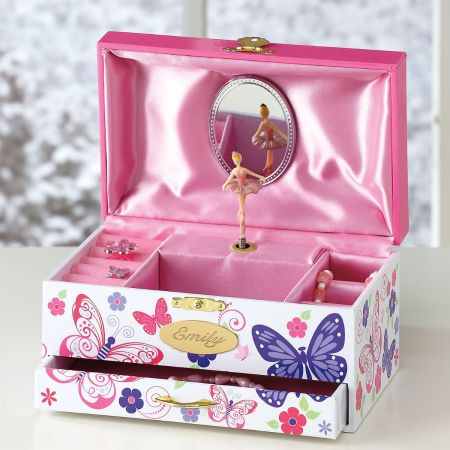 Personalized Floral Music Box