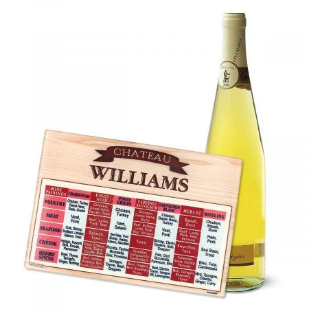 Personalized Wine Pairings Cutting Board