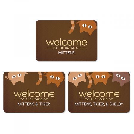 Cat Personalized Welcome Doormat